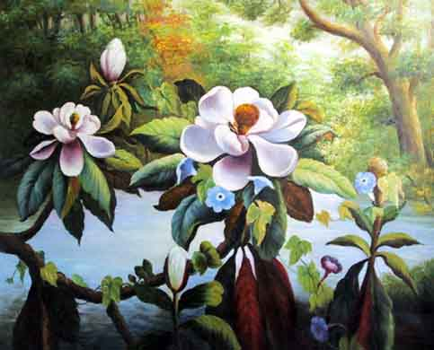 Floral Oil Art #FL007